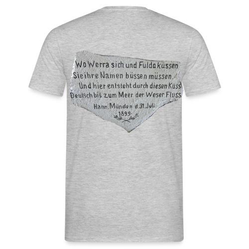 T-Shirt grau mit Weserstein-Spruch - Männer T-Shirt