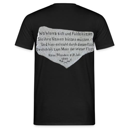T-Shirt schwarz mit Weserstein-Spruch - Männer T-Shirt