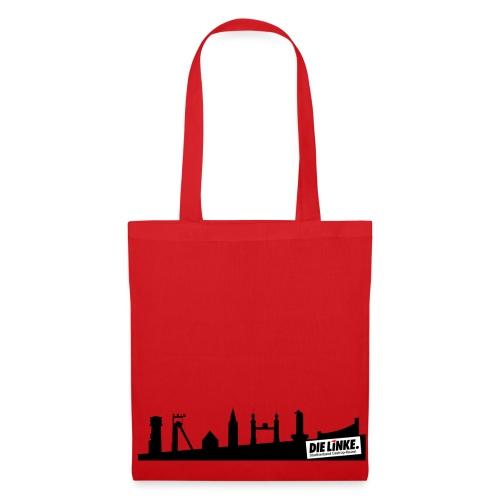 Tasche Rot mit Skyline Castrop-Rauxel - Stoffbeutel
