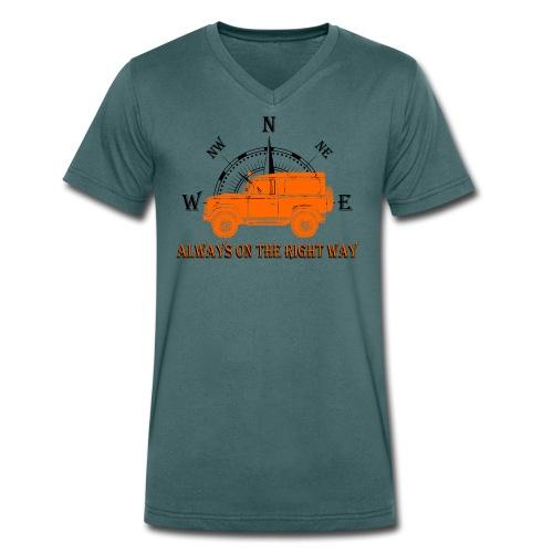 Defender - Männer Bio-T-Shirt mit V-Ausschnitt von Stanley & Stella