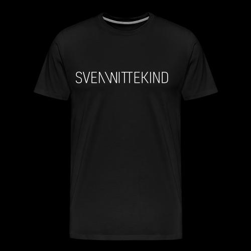 SW Logo T-Shirt - Men (Black) - Männer Premium T-Shirt