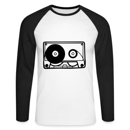 Cassette - Men's Long Sleeve Baseball T-Shirt