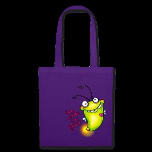 cloth bag glowworm - Stoffbeutel