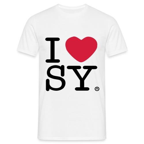 I heart SY (men's t-shirt) - Men's T-Shirt