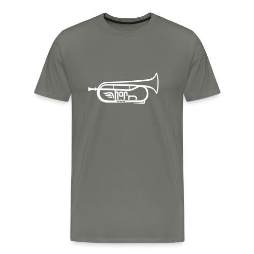 Flügelhorn Logo - Männer Premium T-Shirt