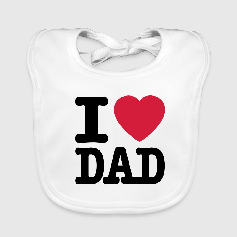 Bianco i love dad IT Accessori - Bavaglino