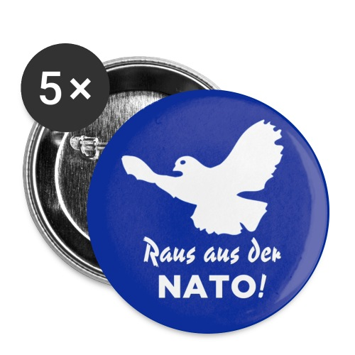 Friedenstaube Button - Buttons groß 56 mm (5er Pack)