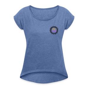 VeroVegan tshirt maniche con risvolti - Maglietta da donna con risvolti