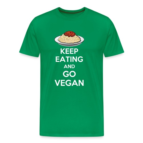 Keep eating and go vegan premium t-shirt - Maglietta Premium da uomo