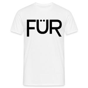FÜR Magazine Men's T-Shirt Black On White - Men's T-Shirt