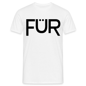 FÜR Magazine T-Shirt Black On White - Männer T-Shirt