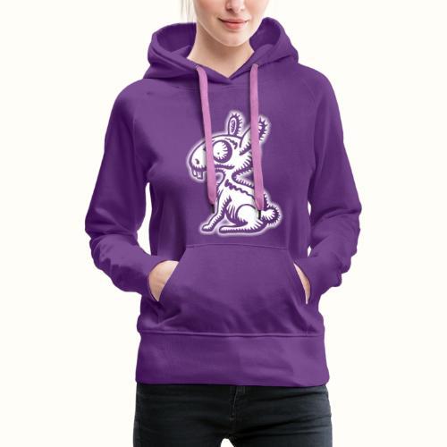Ruffled Rabbit wit VLA49 - Vrouwen Premium hoodie