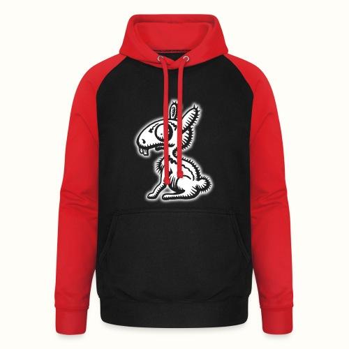 Ruffled Rabbit wit VLA49 - Unisex baseball hoodie