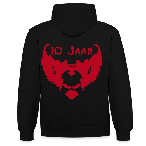 10 Jaar Fright Nights Fanclub Heren (2017) - Contrast hoodie
