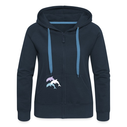 Dolphin 2 - Women's Premium Hooded Jacket