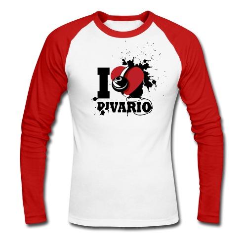T-shirt ML Homme I love Dj VARIO - T-shirt baseball manches longues Homme