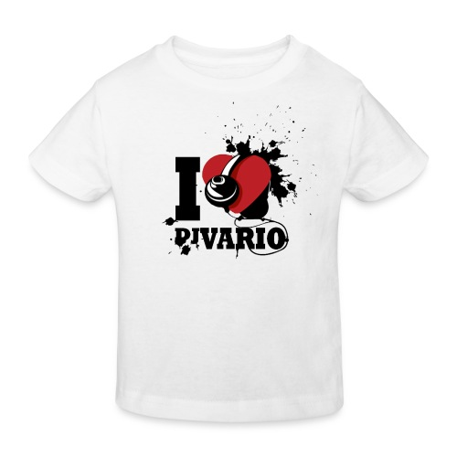 T-shirt MC Enfant BIO I love Dj VARIO - T-shirt bio Enfant