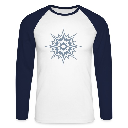 Psy Splash (silver) - Baseballshirt - Männer Baseballshirt langarm