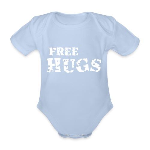 Free Hugs - Baby bio-rompertje met korte mouwen