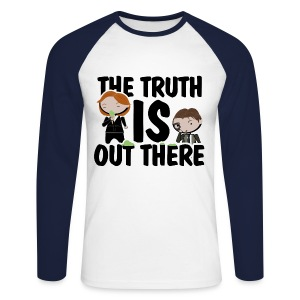 x files the truth is out there - Raglán manga larga hombre