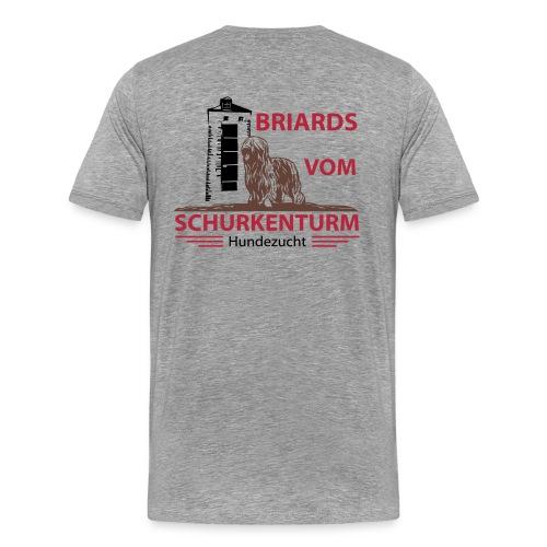 Briards vom Schurkenturm - Männer Premium T-Shirt