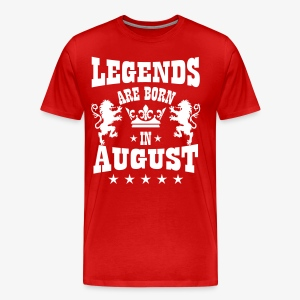 Legends are born in August Lions Crown T-Shirt Männer - Männer Premium T-Shirt