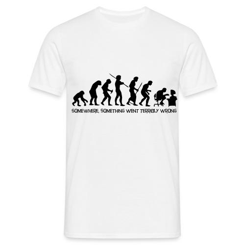 HUMAN EVOLUTION JOKE - Men's T-Shirt