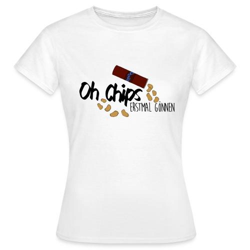 Chips gönnen │ Damen T-Shirt - Frauen T-Shirt