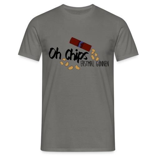 Chips gönnen │ Herren T-Shirt - Männer T-Shirt