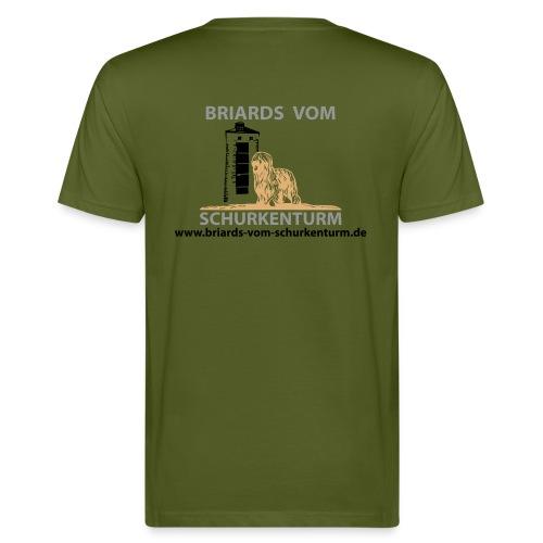 Briards vom Schurkenturm - Männer Bio-T-Shirt