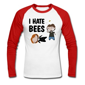 Camiseta Expediente X, I hate bees - chico manga larga - Raglán manga larga hombre