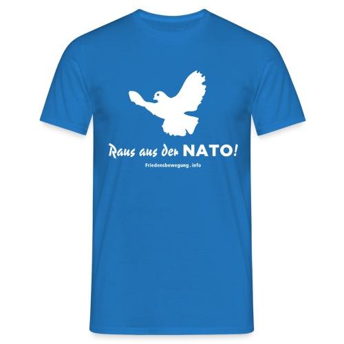 Friedenstaube T-Shirt blau - Männer T-Shirt