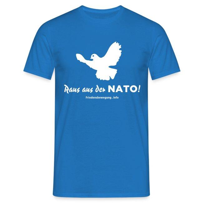 Friedenstaube T-Shirt blau
