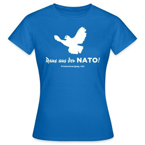Friedenstaube T-Shirt Frauen blau - Frauen T-Shirt