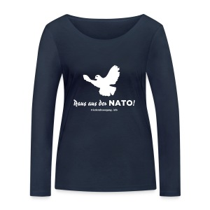 Friedenstaube Frauen Pullover U-Boot-Ausschnitt navy - Frauen Bio-Langarmshirt von Stanley & Stella
