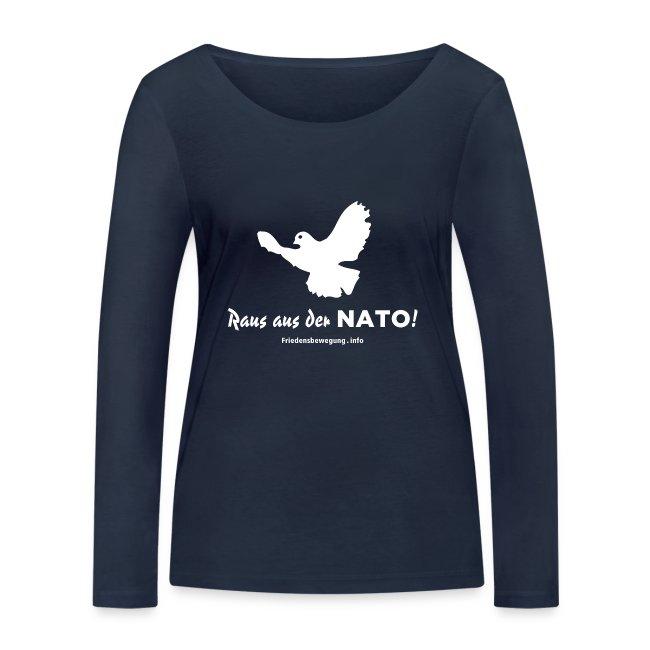 Friedenstaube Frauen Pullover U-Boot-Ausschnitt navy
