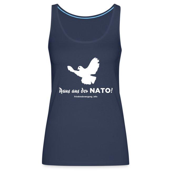 Friedenstaube Top Frauen navy