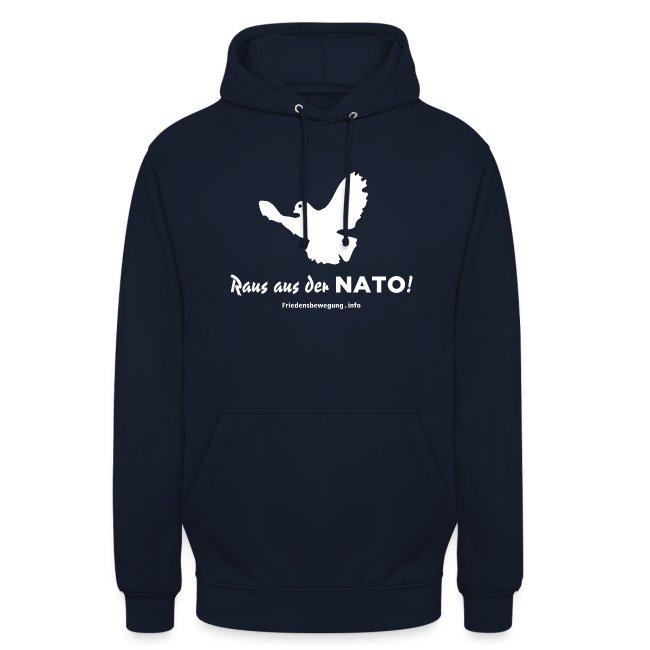 Friedenstaube Hoodie navy