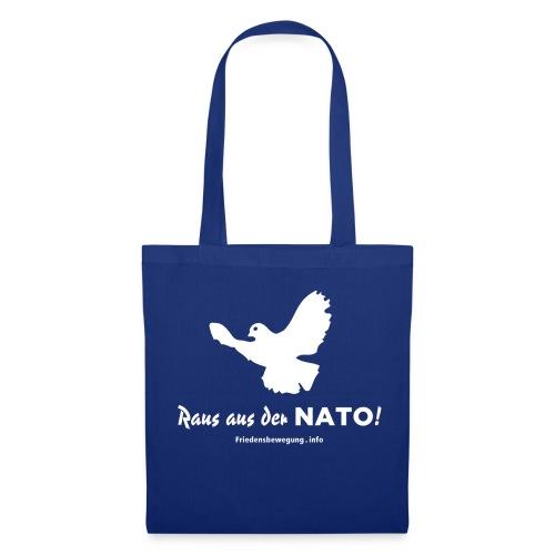 Friedenstaube Stofftasche blau - Stoffbeutel