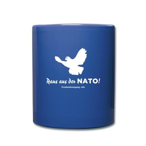 Friedenstaube Tasse color blau - Tasse einfarbig