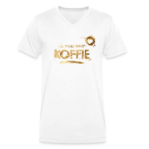 Koffie mannen v-hals bio - Mannen bio T-shirt met V-hals van Stanley & Stella