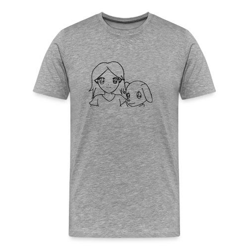 Männer Premium T-shirt Hermann und Nina - Männer Premium T-Shirt