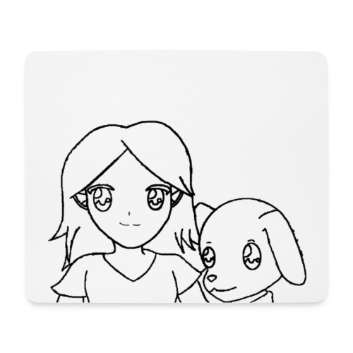 Mousepad Hermann und Nina - Mousepad (Querformat)