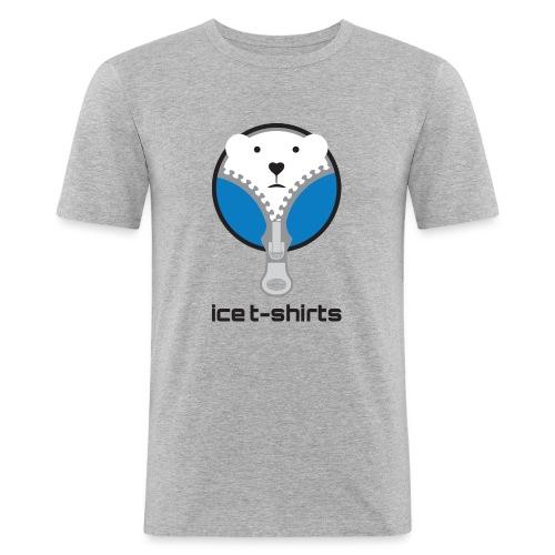 Ice T-Shirt - Herren Grau - Männer Slim Fit T-Shirt