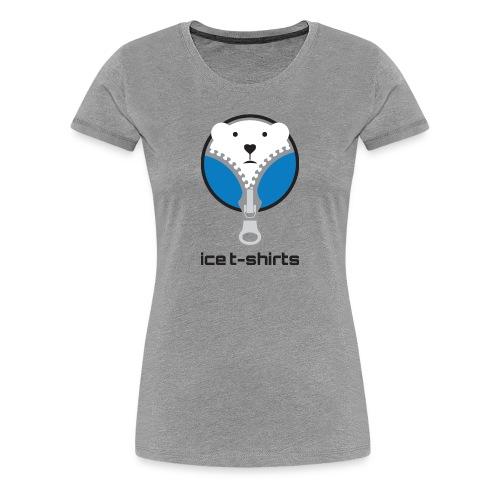 Ice T-Shirt - Damen Grau - Frauen Premium T-Shirt
