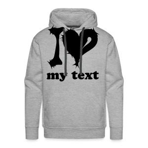 Change the text! - Mannen Premium hoodie