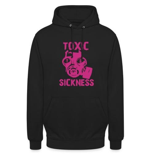 Unisex Toxic Sickness Hoodie With Pink Logo - Unisex Hoodie