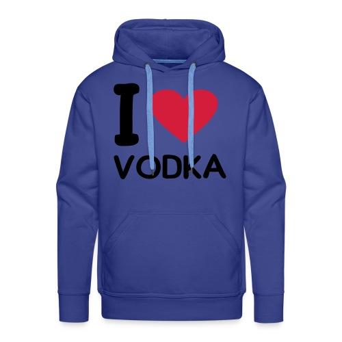 vodka love - Felpa con cappuccio premium da uomo