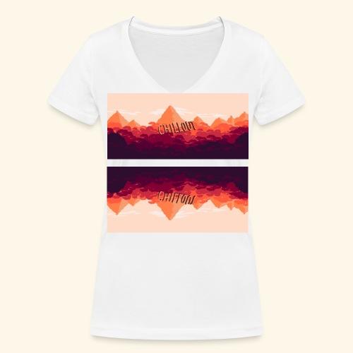 chillmountain - Frauen Bio-T-Shirt mit V-Ausschnitt von Stanley & Stella