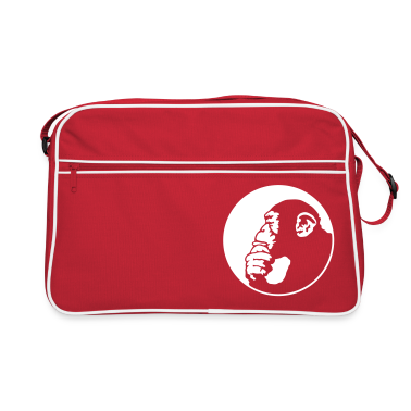 Red/white chimpanzee Bags